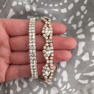 Jewelry - Set of 2 rhinestone stretch tennis bracelets
